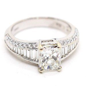 4.36 Carat Radiant Diamond Engagement Ring